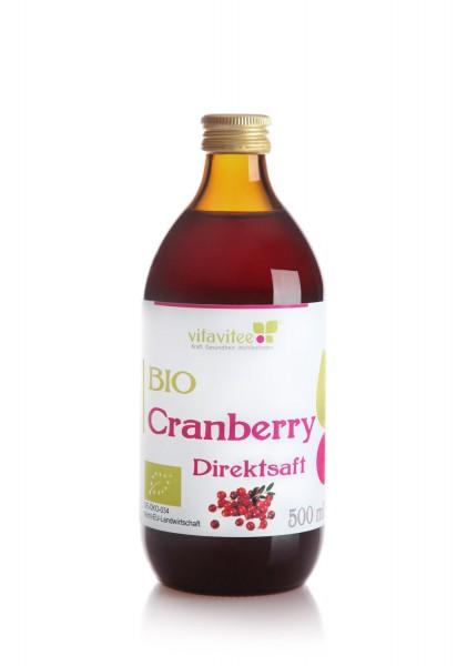 Bio Cranberry Direktsaft 0,5 Liter - Freude für alle Sinne
