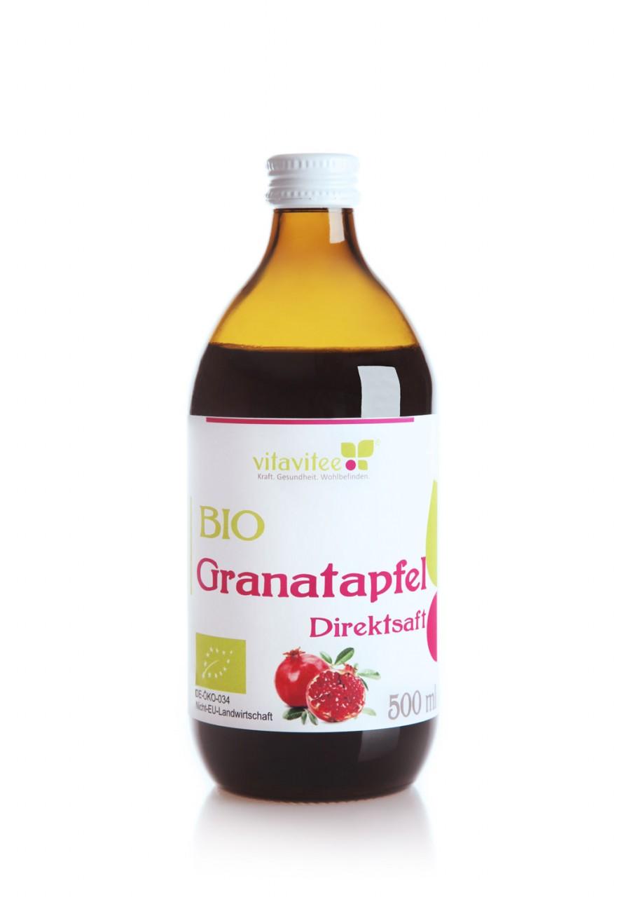 Bio Granatapfel Direktsaft 0,5 Liter - Energie und Stärke