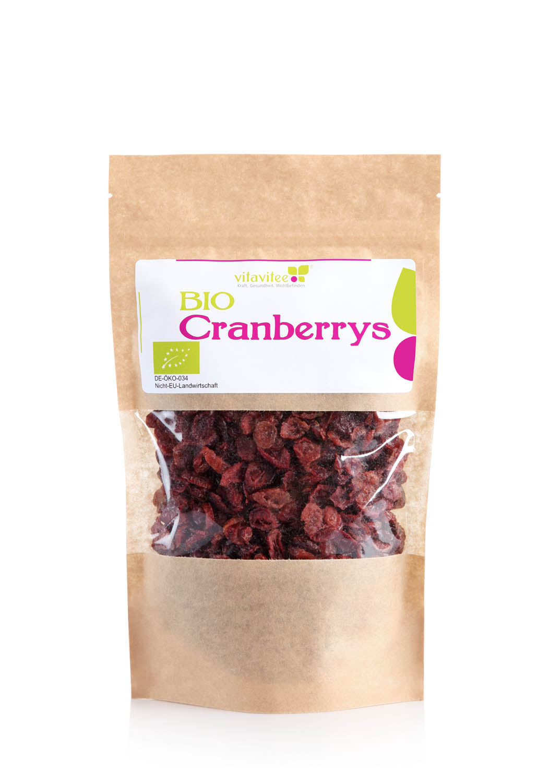 bio cranberrys getrocknet online kaufen bio qualit t vitavitee. Black Bedroom Furniture Sets. Home Design Ideas