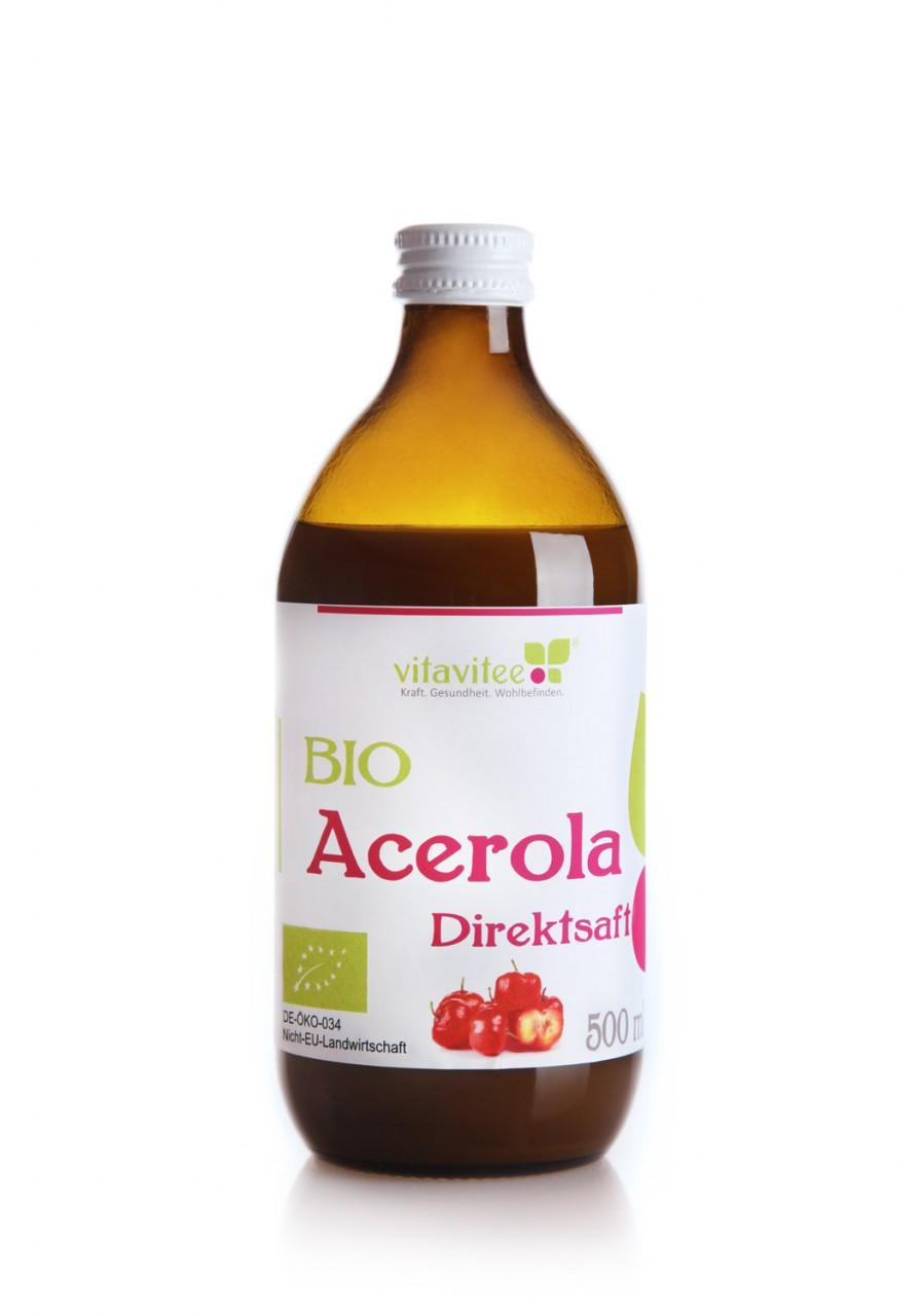 Bio Acerola Direktsaft 0,5 Liter - Energie und Frische