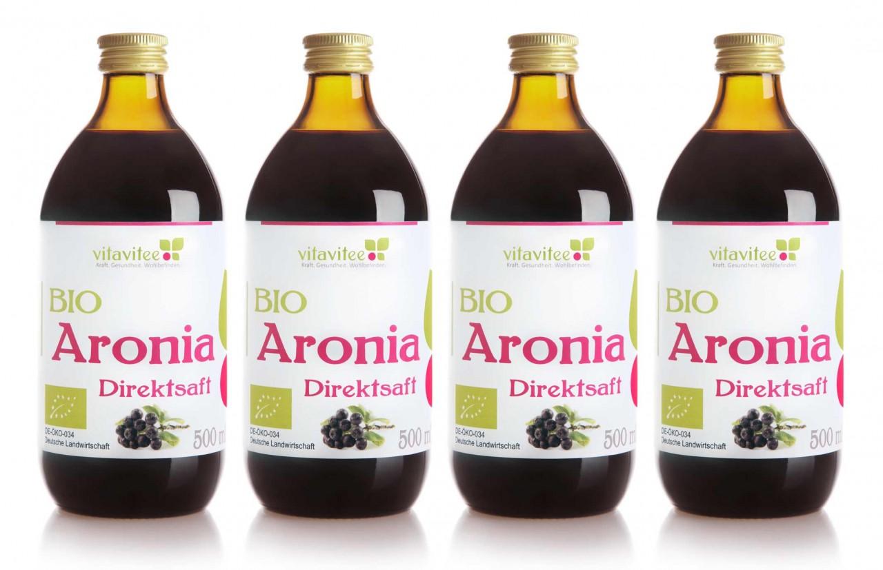 Bio Aronia Direktsaft 4 x 0,5 Liter - Genuss auf ganzer Linie