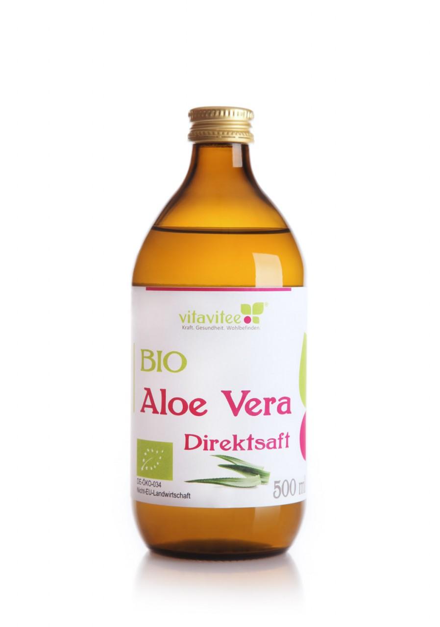 Bio Aloe Vera Direktsaft 0,5 Liter - Schönheit von Innen
